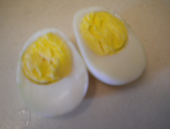 Hardboiled egg makes a great protein source